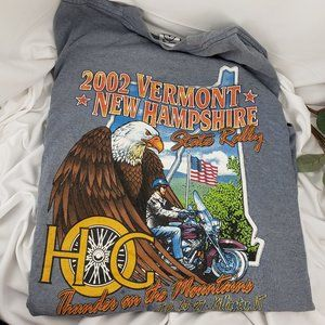 Harley Owners Group 2002 VT/NH State Rally T Shirt